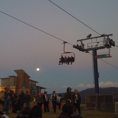 mt buller with moon